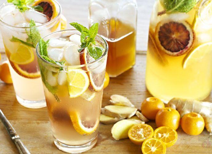 Напитки для похудения: рецепты из имбиря и лимона