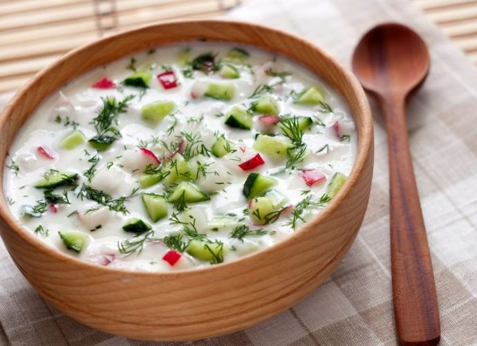 Рецепты окрошки на кефире - 8 оригинальных вариантов с мясом, грибами, курицей