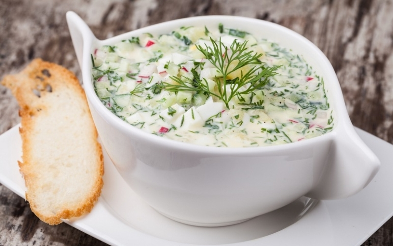 Суп-окрошка обычный с капустой