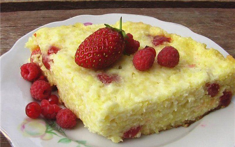 Запеканка с пшёнкой и ягодами