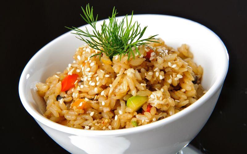 Рис с сыром и овощами