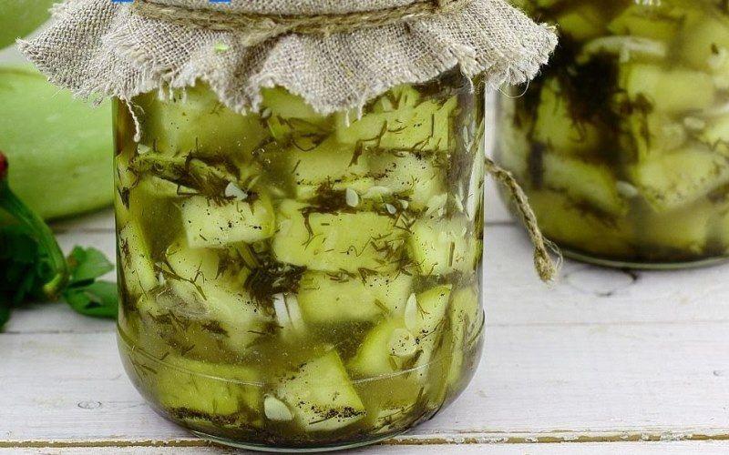Салаты из кабачков на зиму - рецепты консервированных кабачков