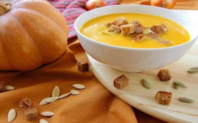 Тыквенно-яблочный суп-пюре