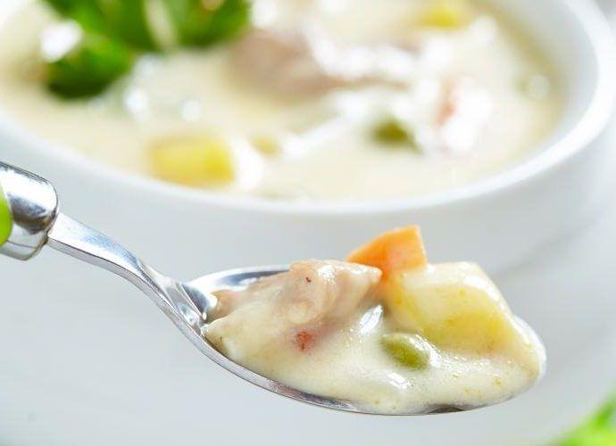 Овощи в молочно-сливочном соусе
