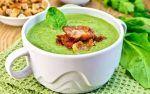 Суп со шпинатом — рецепт с овощами, беконом и сливками