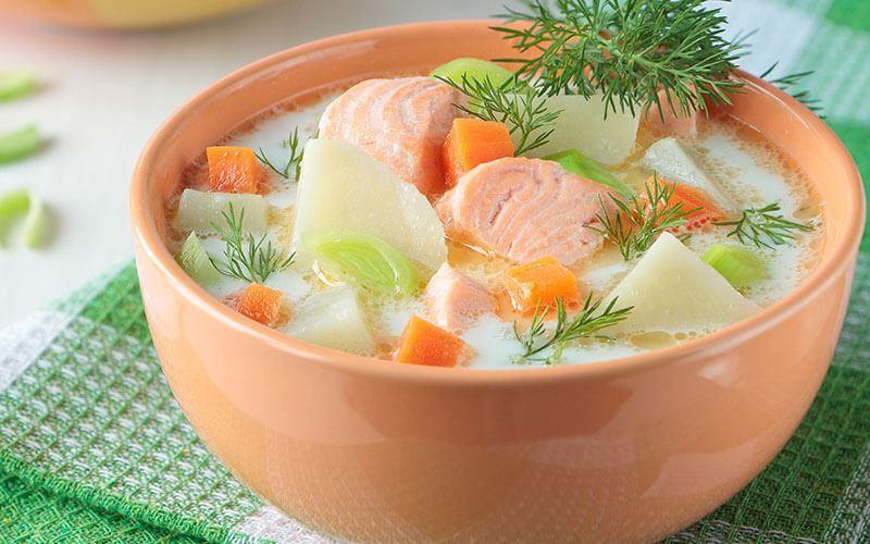 Суп из горбуши диетический
