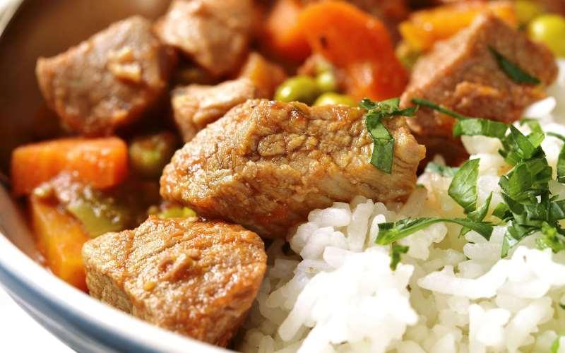 Куриное рагу со специями и овощами