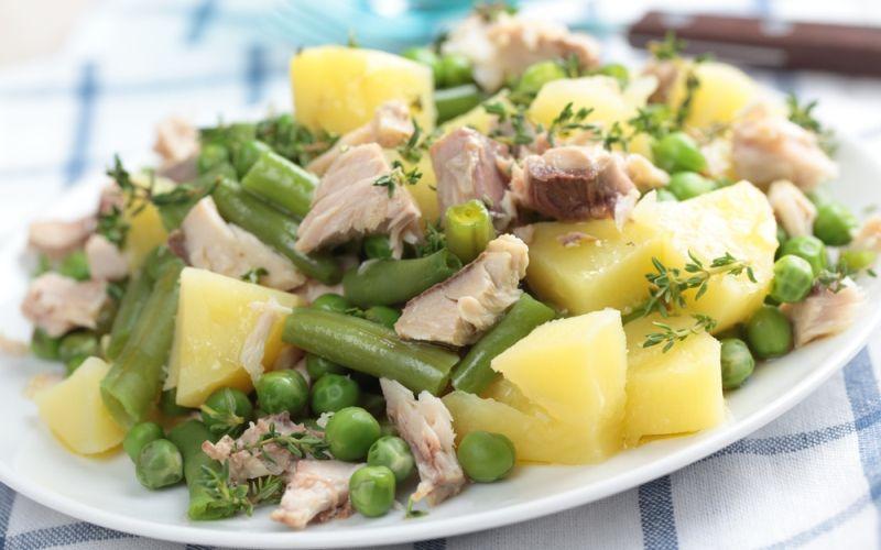 Куриный салат с медовой заправкой