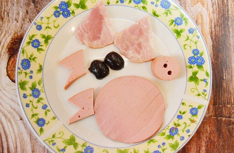 Салат с языком на Новый год - год Свиньи