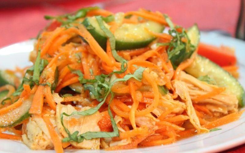 Спаржевый салат с морковью