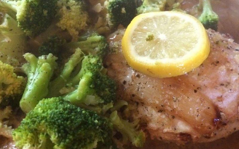 Рыба с брокколи и лимоном