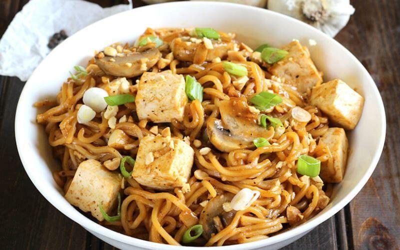 Спагетти с сыром тофу