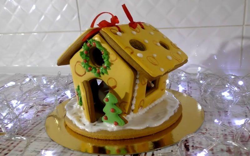 """Оригинальный пряник """"Имбирный домик для мышки"""""""