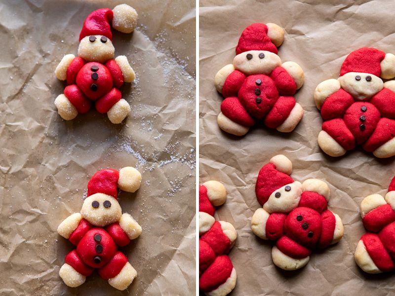 Печенье новогоднее в форме санта-клауса
