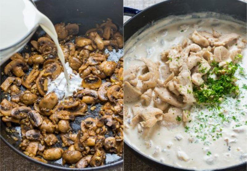 Макароны с курицей и грибамит - рецепт