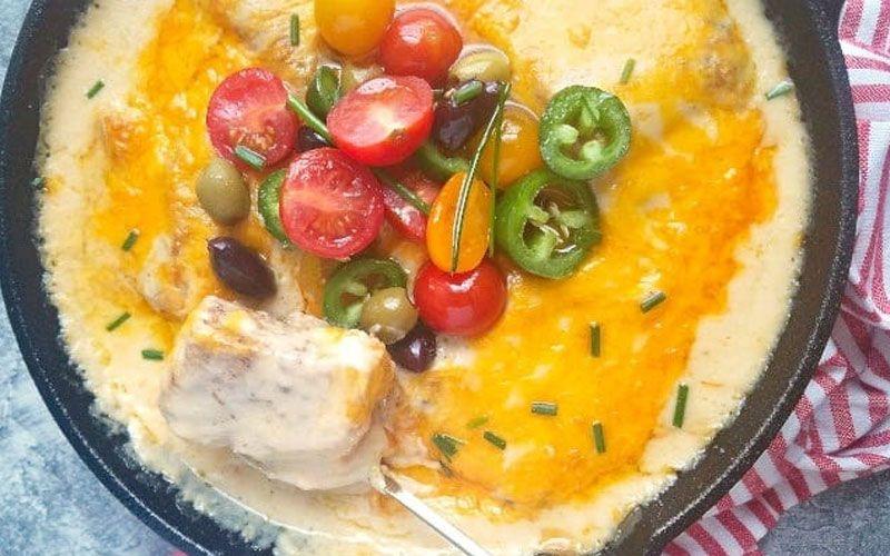 Треска с помидорами и сыром в духовке
