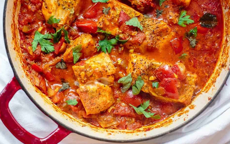 Треска в томатном соусе: рецепт