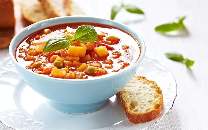суп без мяса с горошком и пекинской капустой