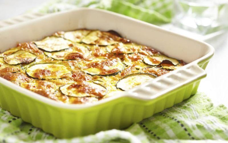 Кабачки, запеченные с сыром и творогом