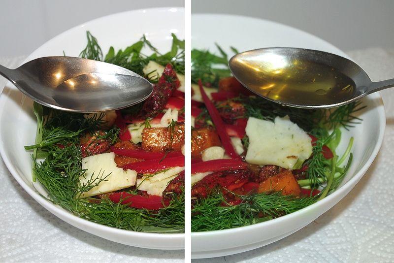 Запеченная в духовке тыква с помидорами и брынзой 4