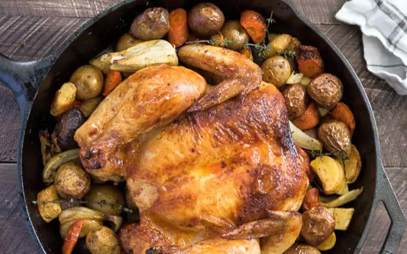 Цыплята, фаршированные луком