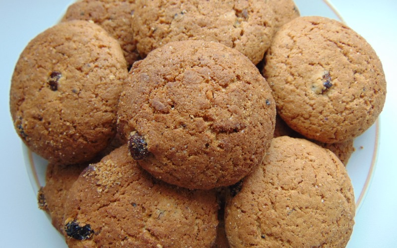 Рецепт овсяного печенья с вяленой клюквой