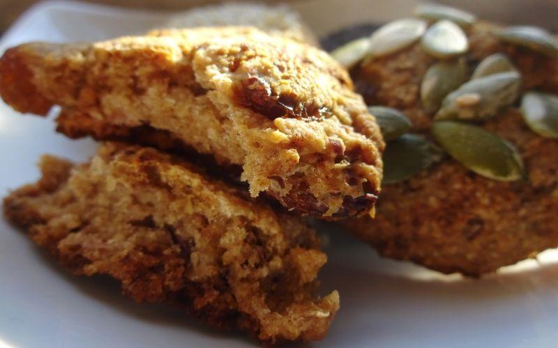 овсяное печенье с тыквенными семенами