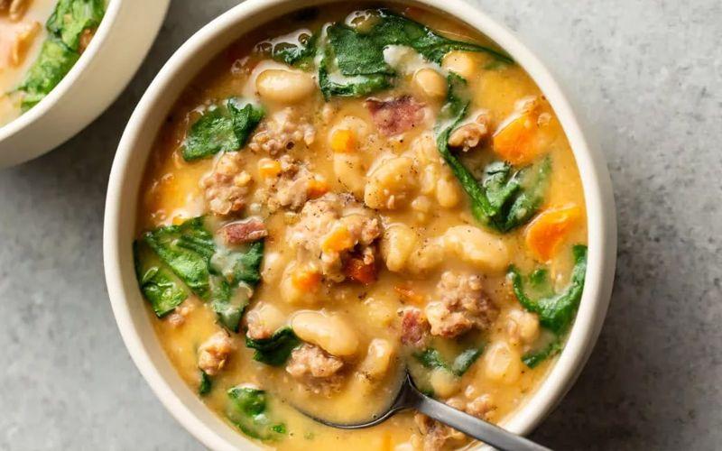 Суп с фасолью и говядиной в мультиварке