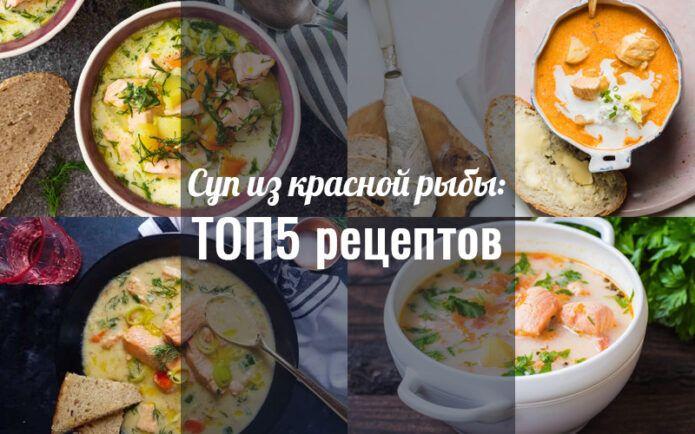 Суп из красной рыбы рецепты
